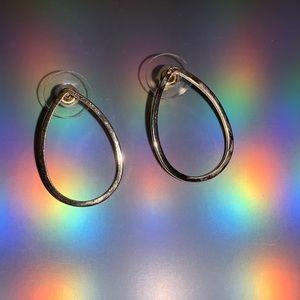 Gold-colored teardrop earrings